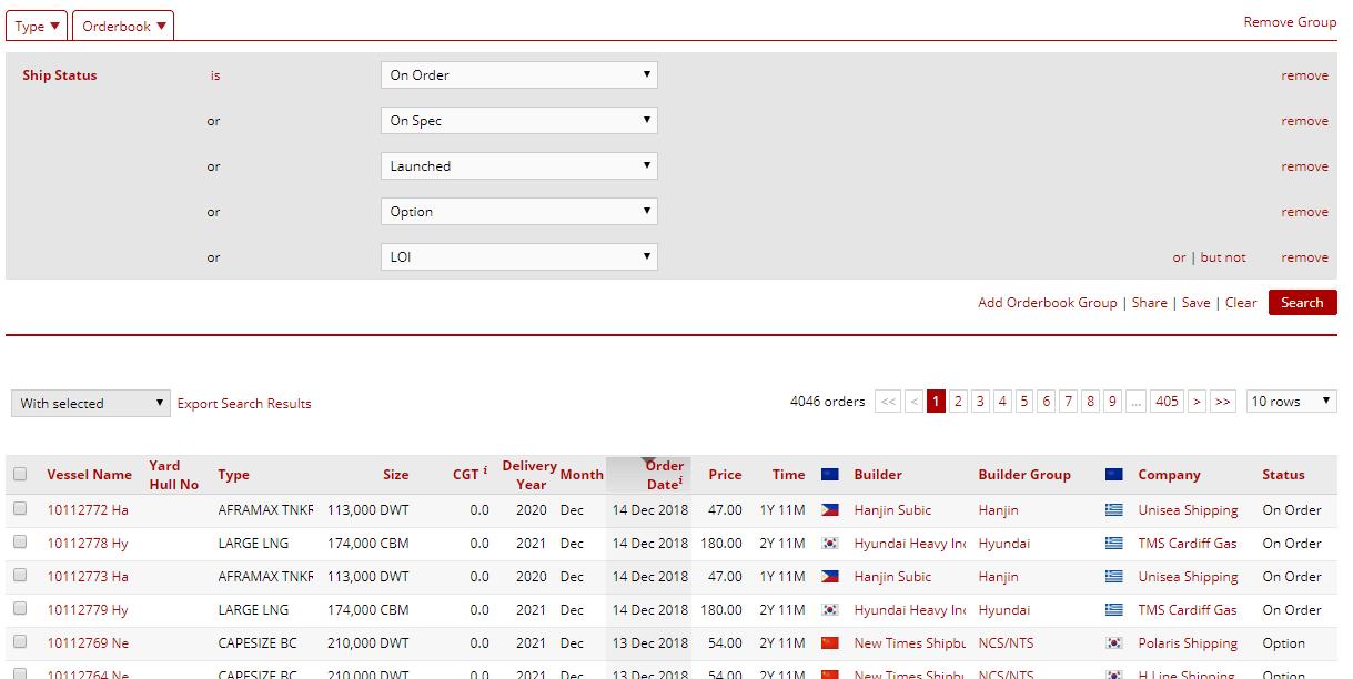 Example Orderbook Database